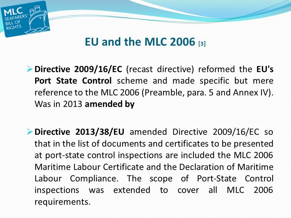 EU and the MLC 2006 [3]